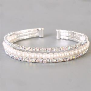 Jewelry - Rhinestones Pearl Three-Layereds Bracelet - 164407